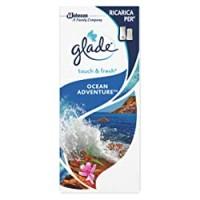 Glade Touch & Fresh Ricarica, Deodorante per Ambienti Mini Spray, Fragranza Ocean Adventure, Confezioni da 1 Ricarica