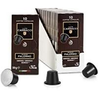 Caffè Carracci, Capsule Compatibili Nespresso, Palermo, 10 Astucci da 10 Capsule (Totale 100 Capsule)