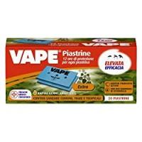 Vape Piastrine Extra, Protezione Rapida contro le Zanzare fino a 12 Ore