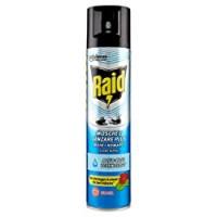 Raid Mosche e Zanzare Plus, Aqua Base Technology, Insetticida Spray, 1 Confezione da