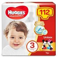 Huggies Huggies Pannolini Ultra Comfort, Taglia 3 (4-9 Kg), Confezione Da 112 Pannolini