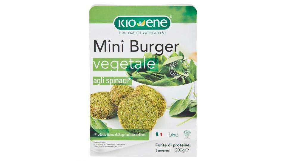Kioene Mini Burger Vegetale Agli Spinaci