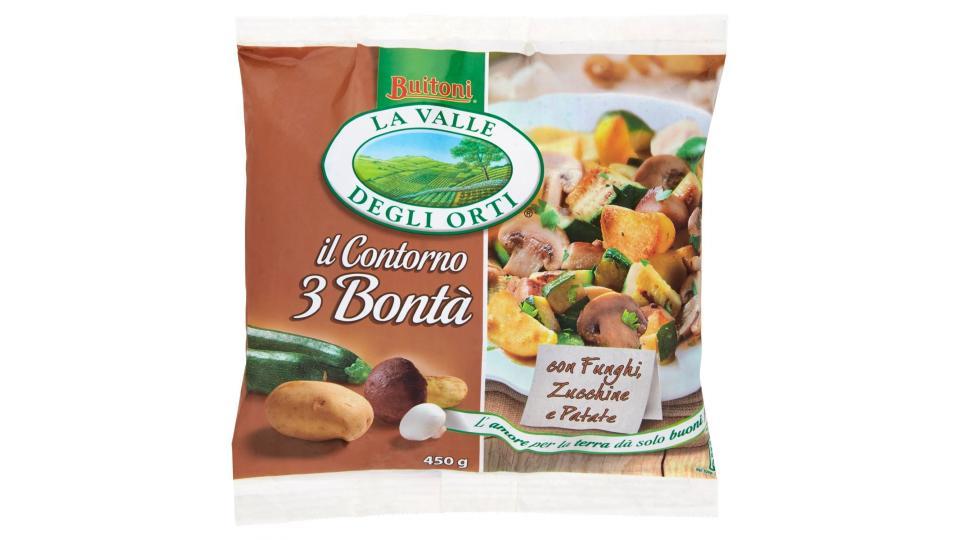 V.D.O., La Valle Degli Orti Il Contorno 3 Bontà Funghi Zucchine e Patate Surgelate