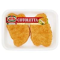 Cotoletta di filetti di pollo impanata