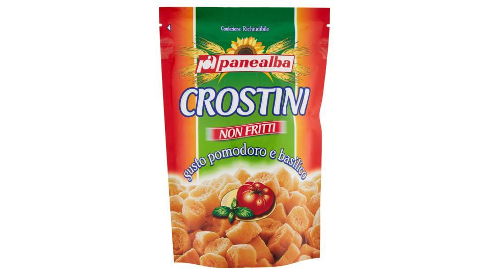 Panealba crostini pomodoro basilico