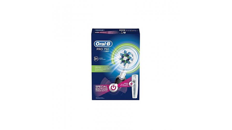 Oral-B PRO 750 CrossAction Spazzolino Elettrico Ricaricabile - Bonus Pack ef60b9addd41