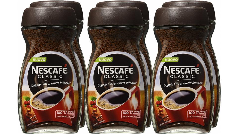 nescaf%C3%A9 classic caff%C3%A8 solubile barattolo 200g  NESCAFÉ CLASSIC Caffè solubile 6 barattoli da 200g (1,2 kg) | Tutti ...