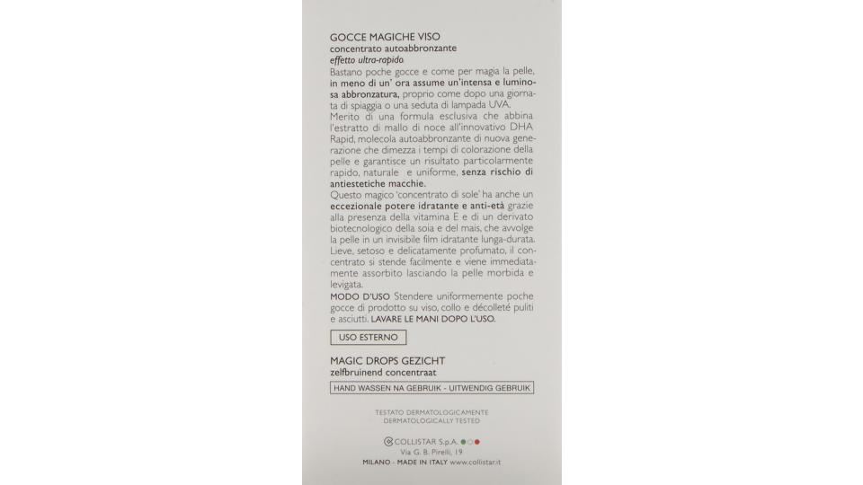 Gocce magiche Autoabbronzanti ultrarapide di Collistar, Autoabbronzante Donna - Flacone