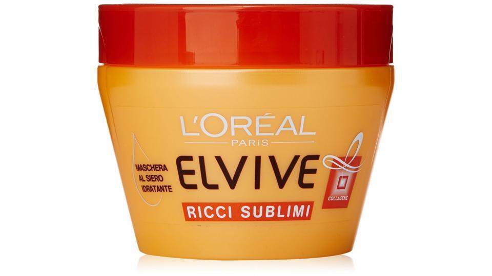 L'Oréal Paris Elvive Olio Straordinario Ricci Sublimi - Maschera idratante per capelli ricci o mossi