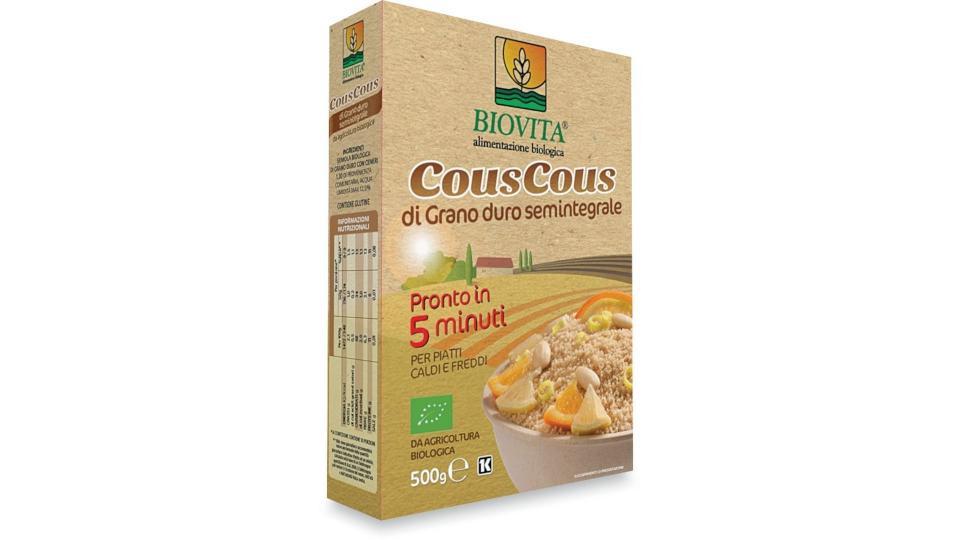 Cous cous semi integrale pronto in 5 minuti Biovita