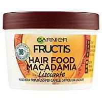 Garnier Fructis Hair Food Macadamia - Maschera 3in1 per capelli difficili da lisciare