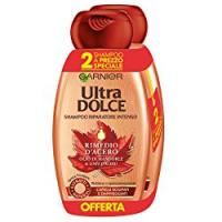 Garnier Ultra Dolce Shampoo Rimedio d'Acero per Capelli Danneggiati, Senza Parabeni, con Olio di Mandorle e Sciroppo d'Acero, 300 ml [Confezione da 2]