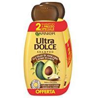 Garnier Ultra Dolce Shampoo all'Olio di Avocado e Burro di Karité per Capelli Ricci o Mossi, Senza Parabeni, Estratto Naturale, 300 ml [Confezione da 2]