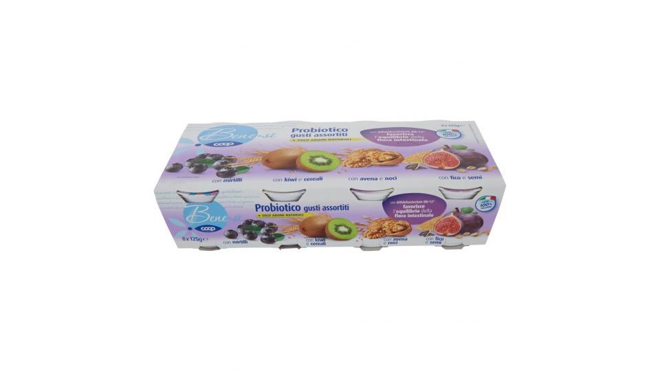 Probiotico Gusti Assortiti con Mirtilli/con Kiwi e Cereali/con Avena e Noci/con Fico e Semi 8 x 125g