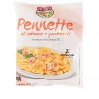 Pennette Salmone Gamberetti