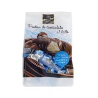 Praline di Cioccolato al Latte Ripiene con Crema al Latte e Cereali