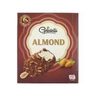 Gelato alla Vaniglia Ricoperto al Cioccolato e Mandorle