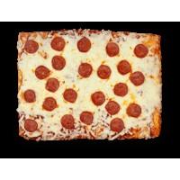 Pizza con Salame Piccante in Teglia