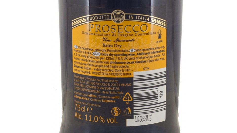 Prosecco Spumante Doc, 11% Vol.