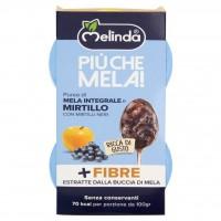 Più Che Mela! Purea di Mela Integrale e Mirtillo con Mirtilli Neri 2 x 100 g