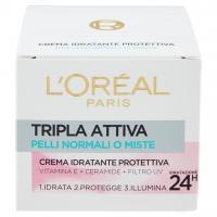 L'Oréal Paris Tripla Attiva Pelli Normali o Miste Crema Idratante Protettiva