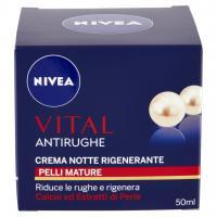 Nivea Vital Antirughe crema notte rigenerante pelli mature