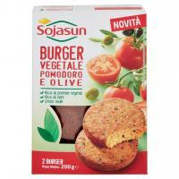 Sojasun burger vegetale pomodoro e olive