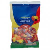 Caramelle Gommose Gusti Assortiti Fragola, Mora, Arancia, Limone A Basso Contenuto Di Zuccheri
