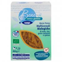 Senza Glutine Mezze Penne Multicereali Biologiche Di Mais, Riso, Grano Saraceno E Quinoa