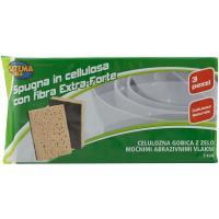 Spugne di Cellulosa con Fibra Abrasiva