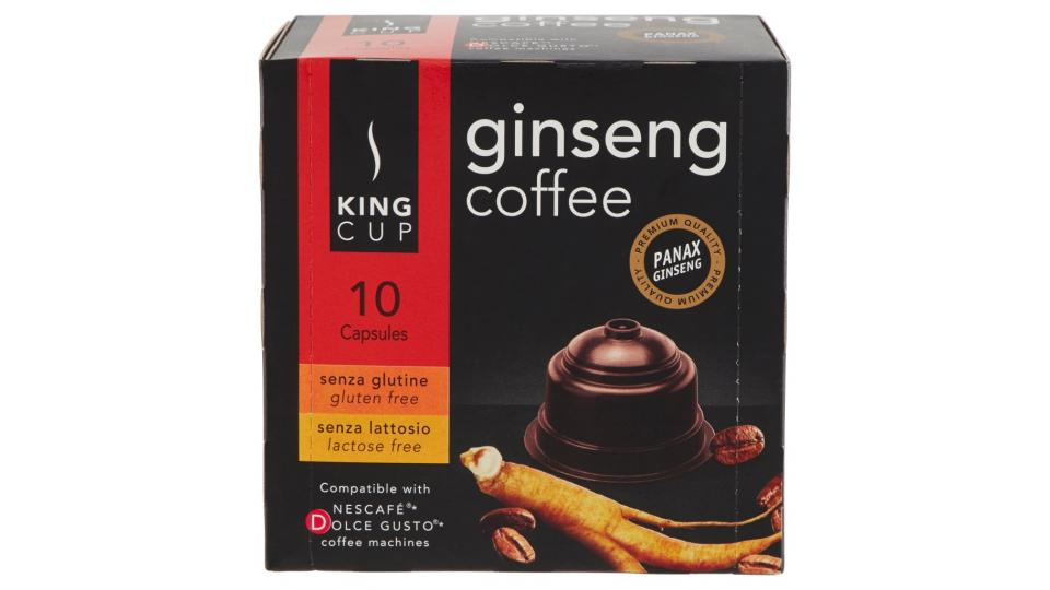 Ginseng Coffee Capsule Compatibili Nescafe* Dolce Gusto* 10 x 6,5 g