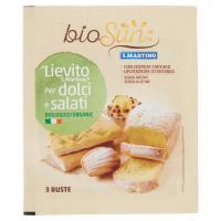 """Biosun """"lievito """" per Dolci e Salati Biologico 3 Buste"""