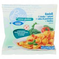 Senza Glutine Ravioli di Ricotta e Spinaci in Salsa di Pomodoro e Basilico Surgelati