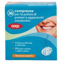 Compresse per la Pulizia di Protesi e Apparecchi Ortodontici 36 Pz