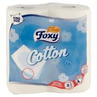 Cotton Carta Igienica 5 Veli Bianca con Fibre di Cotone 4 Maxi Rotoli