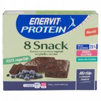 100% Vegetale 8 Snack Mirtillo e Cioccolato Fondente