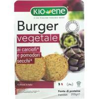 Burger vegetale ai carciofi e pomodori secchi Kioene