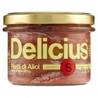 Delicius, Superior filetti di alici in olio di oliva (48%)