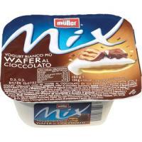 Müller Mix Yogurt bianco più wafer al cioccolato